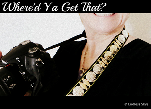 WHERE'D YA GET THAT? – Bedazzled Camera Strap