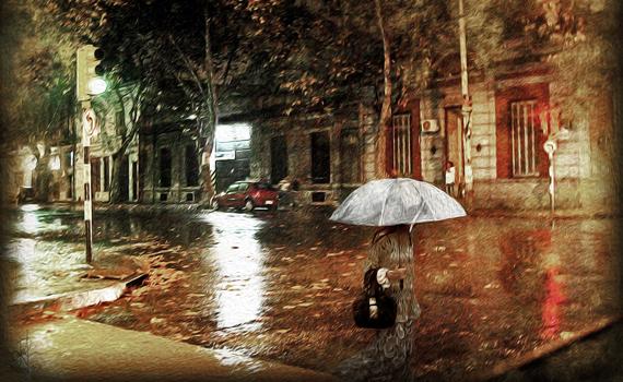 Warm, Rainy Evening