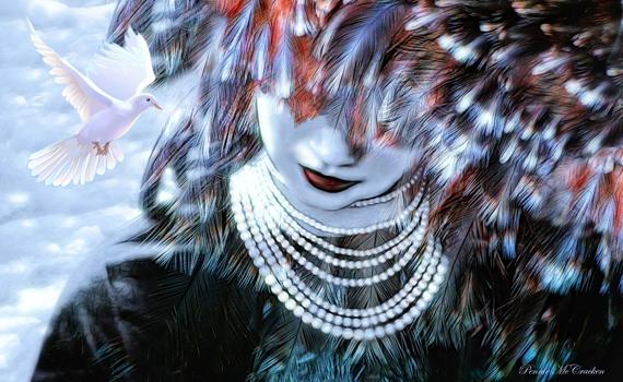 Angelic Embrace - Feather Symbolism