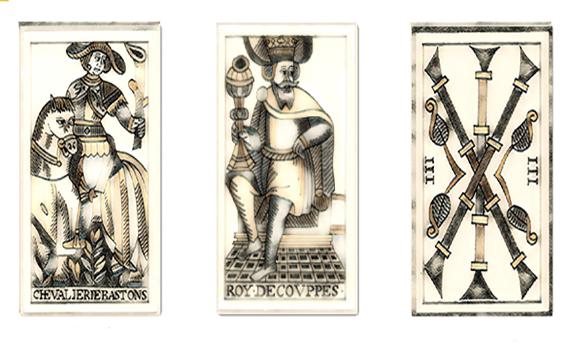 "Vintage ""distressed"" John Noblet, Tarot de Marseille (c.1650)"