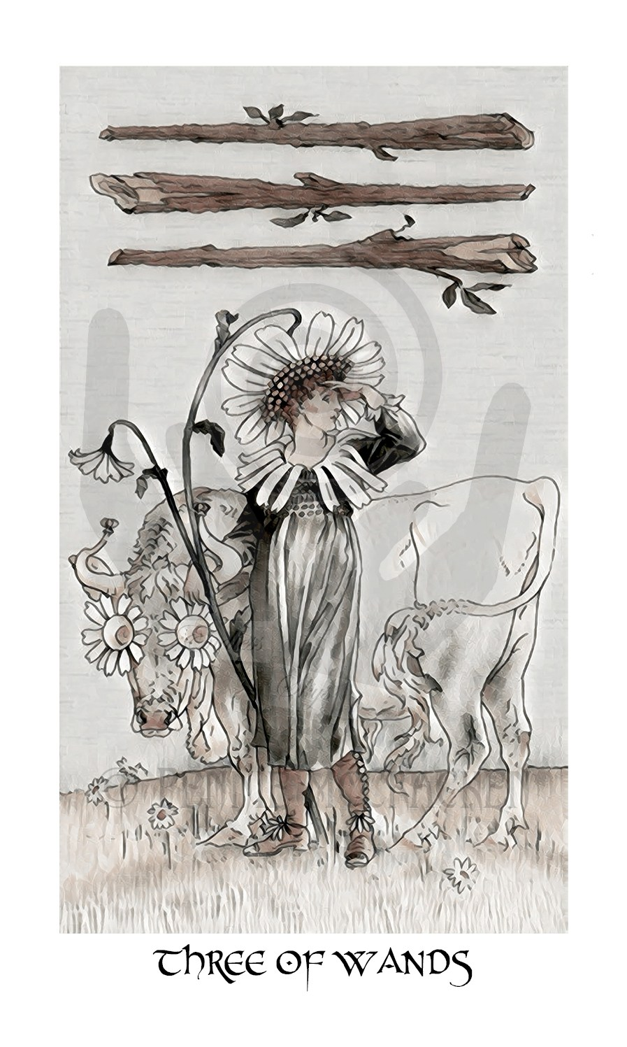 "Harmonious Tarot  in a ""Muted"" Vintage Design by Pennie McCracken - Endless Skys"