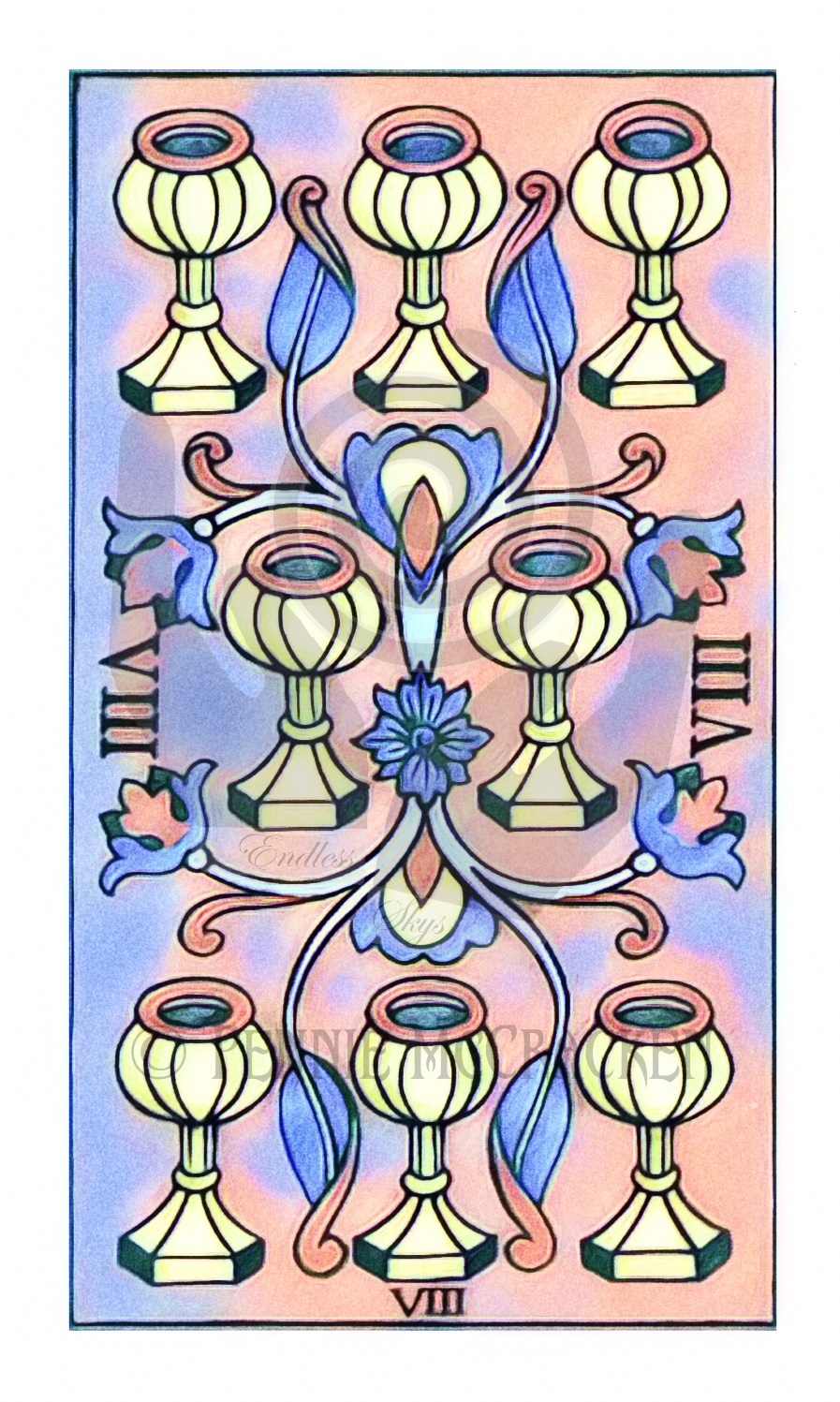 Tarot de Marseille in Sidewalk Chalk Design by Pennie McCracken - Endless Skys