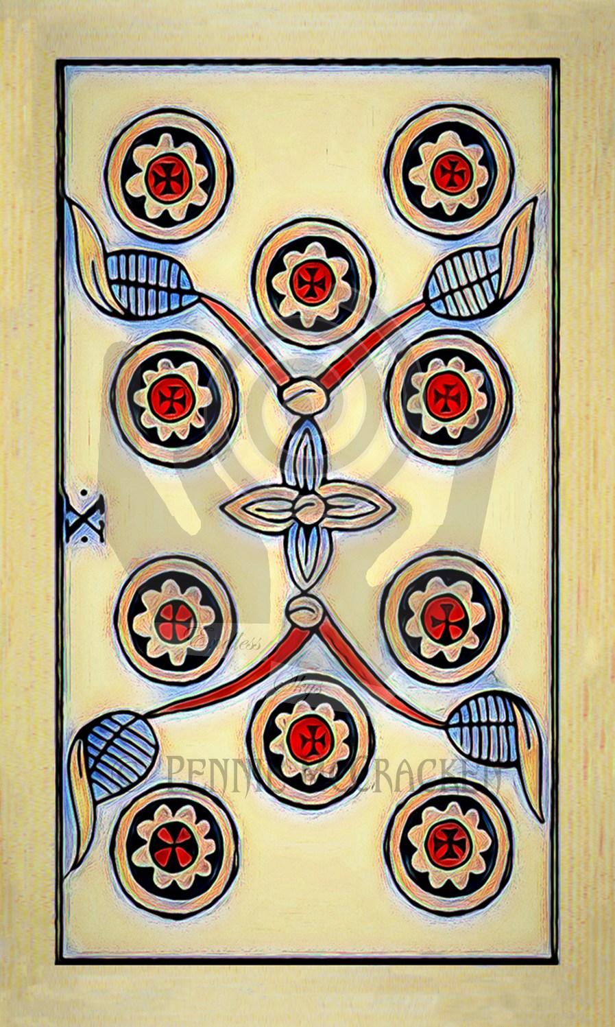 Tarot de Marseille in Colourful Grunge Design by Pennie McCracken - Endless Skys