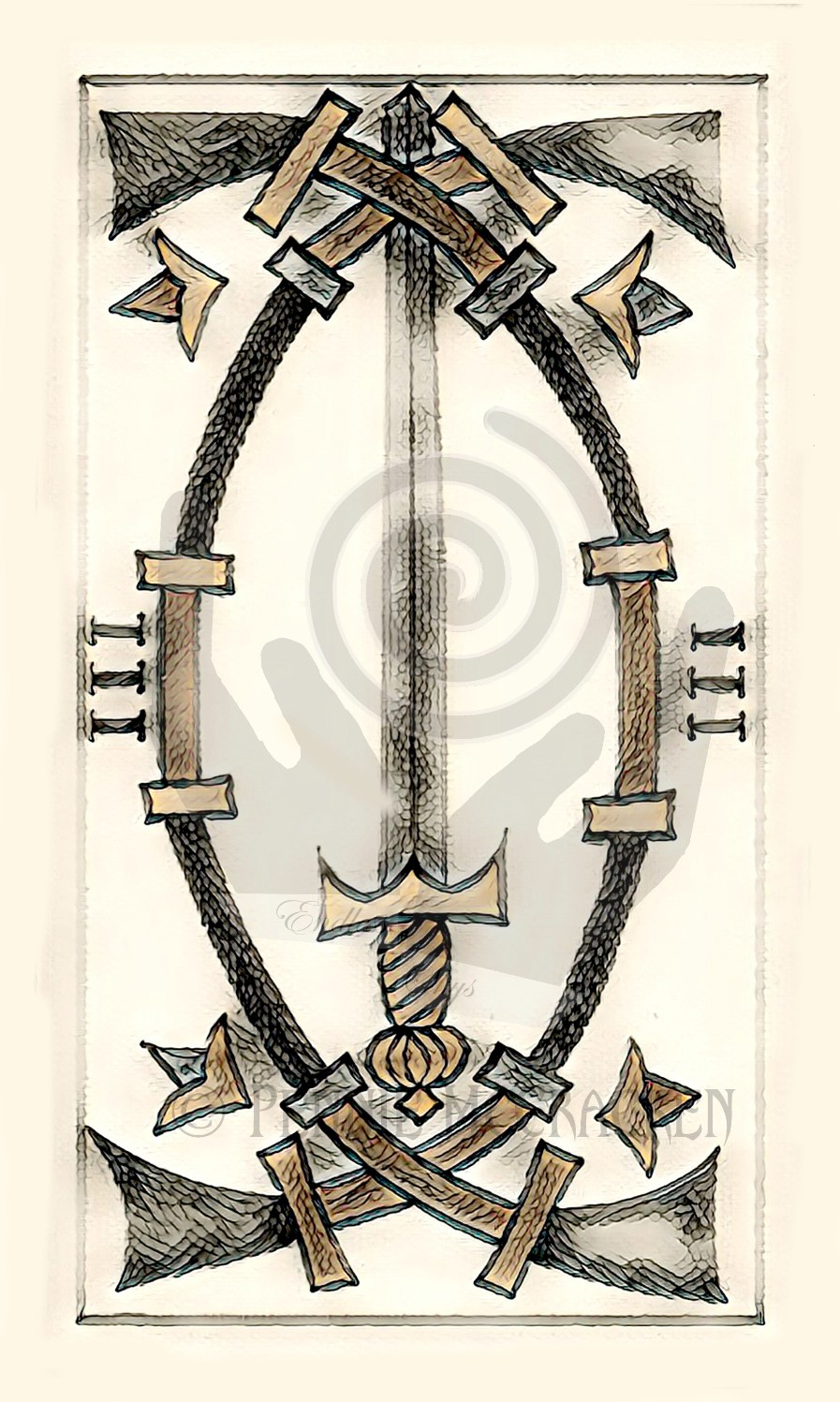 "Tarot de Marseille Vintage ""Distressed"" Design by Pennie McCracken - Endless Skys"